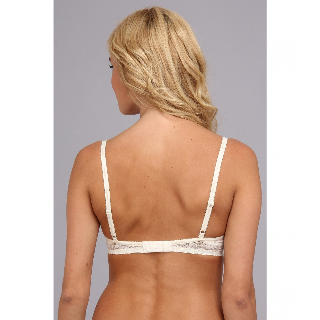 2aaa3f02d1161 Calvin Klein Underwear Modern Signature Essential T-Shirt Bra F3778  6PM8317795 Ivory
