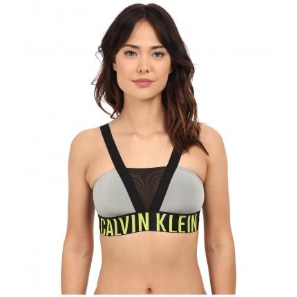 Calvin Klein Underwear Intense Power Bralette 6PM8678666 Medium Grey/Striking Lime