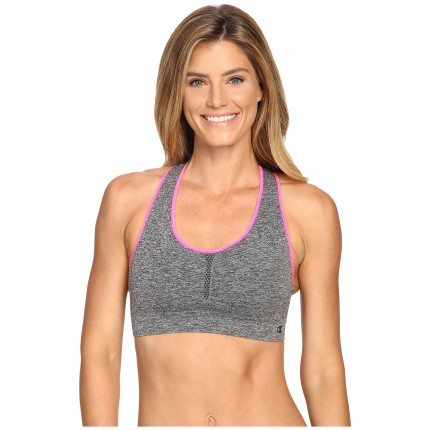 Champion Infinity Shape Sports Bra 6PM8797510 Black Heather/Pinksicle