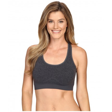 Fila Running with Roses Seamless Bra 6PM8766757 Ebony Jacquard
