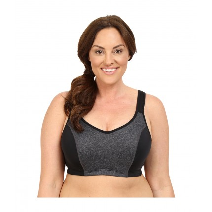 Marika Curves Gabriella Sport Bra 6PM8730401 Black/Marl/Solid Black Elastic