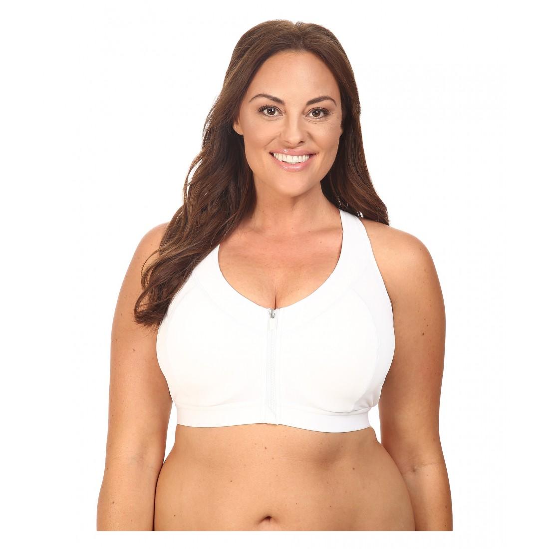 acebc41d7b9ed Marika Curves Plus Size Sierra Sports Bra 6PM8795492 White