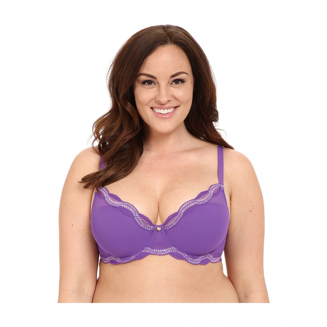 5610fb915 Natori Pure Allure Full Figure Contour Underwire Bra 736099 6PM8535323  Purple Soft Lilac