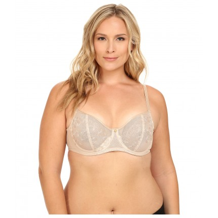 Natori True Decadence Full Figure Cut & Sew Underwire Bra 734097 6PM8590731 Cafe/Ivory