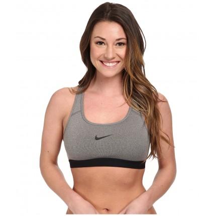 Nike Pro Bra 6PM8438308 Carbon Heather/Black/Black