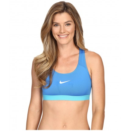 Nike Pro Bra 6PM8438308 Light Photo Blue/Omega Blue/White