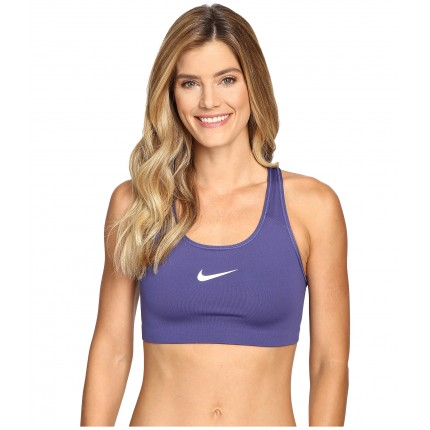 Nike Pro Classic Swoosh Sports Bra 6PM8717537 Dark Purple Dust/White