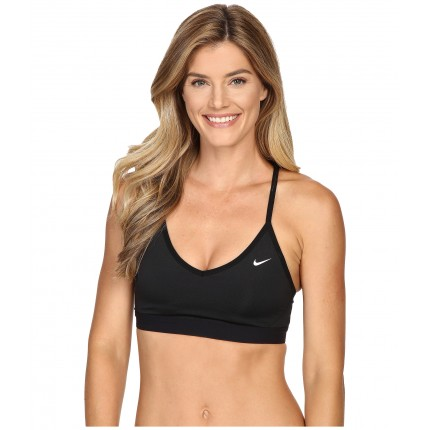 Nike Pro Indy Cross Back Light Support Sports Bra 6PM8718356 Black/Black/White