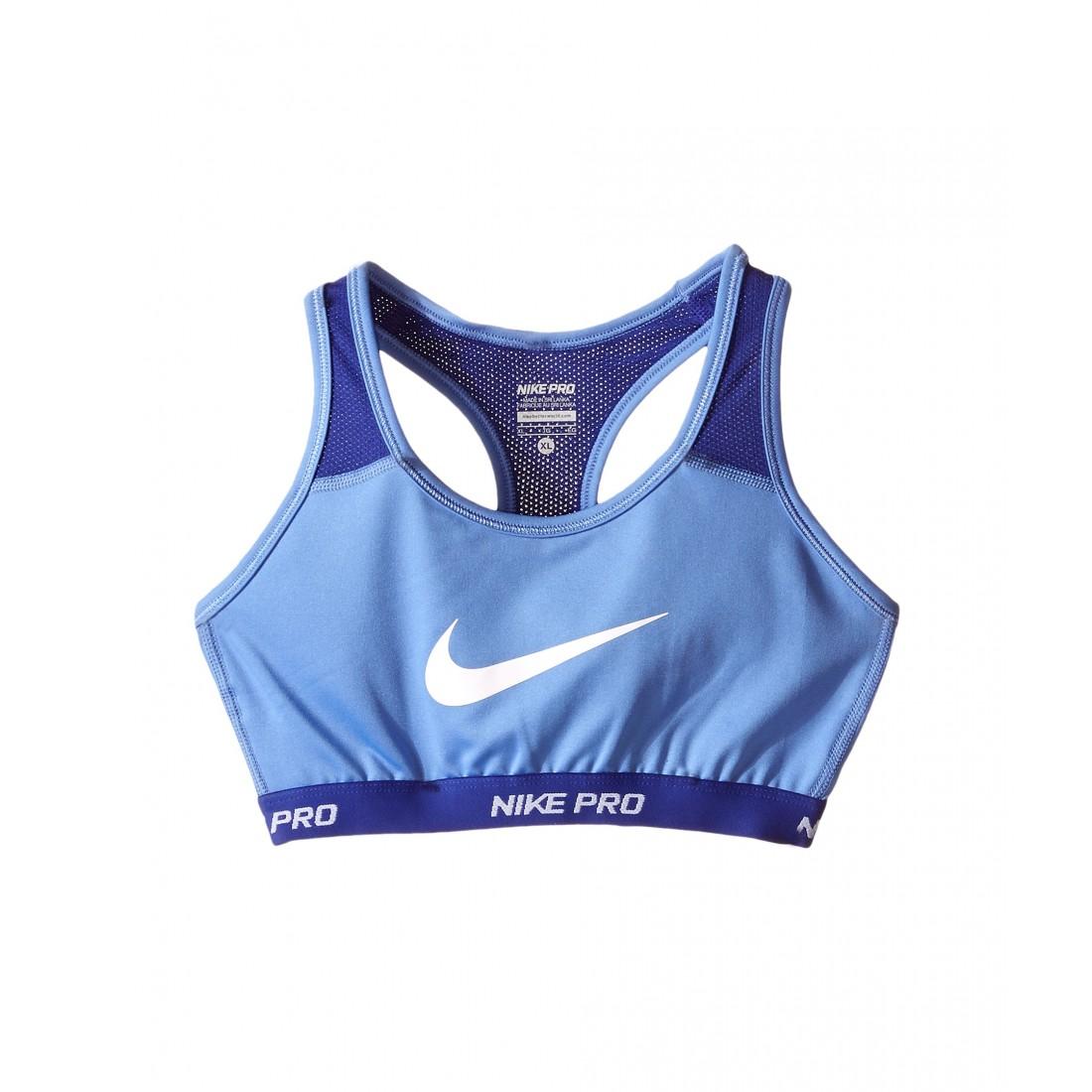 fd6c390b66 Nike Kids Pro Hypercool Sports Bra (Little Kids Big Kids) 6PM8466204 Chalk  Blue