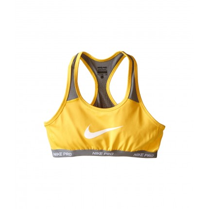 Nike Kids Pro Hypercool Sports Bra (Little Kids/Big Kids) 6PM8466204 Varsity Maize/Cool Grey/Cool Grey/White