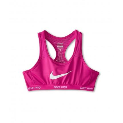 Nike Kids Pro Hypercool Sports Bra (Little Kids/Big Kids) 6PM8466204 Vivid Pink/Vivid Pink/Vivid Pink/White