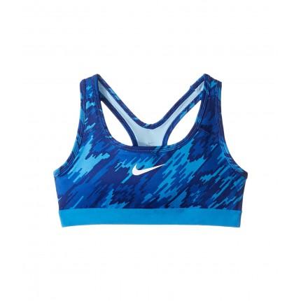Nike Kids Pro Printed Medium Support Sports Bra (Little Kids/Big Kids) 6PM8723033 Light Photo Blue/Light Photo Blue/White