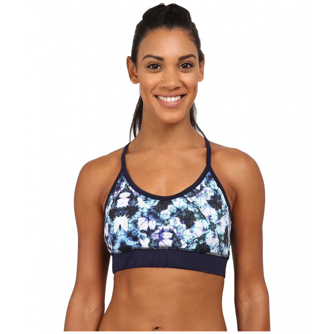 6a8ea47a10e49 Pink Lotus Kaleid Tie-Dye Botanic Sports Bra 6PM8626056 Purple Multi