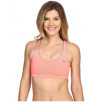 The North Face Bounce-B-Gone Bra 6PM8535557 Neon Peach/TNF Light Grey Heather