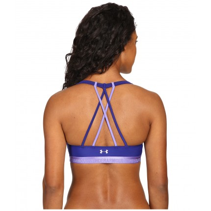Under Armour UA Armour Low Strappy Bra 6PM8704612 Grape Fusion/Violet Storm/Violet Storm