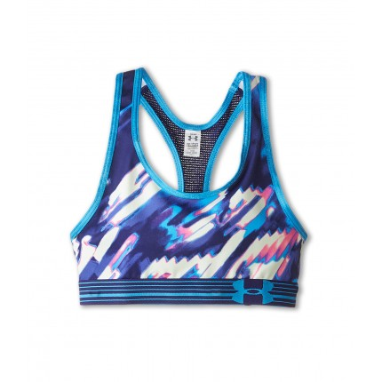 Under Armour Kids HeatGear Alpha Printed Sports Bra (Big Kids) 6PM8506641 Europa Purple/Sugar Mint/Sugar Mint