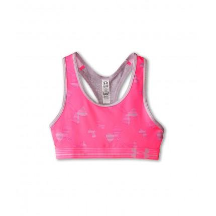Under Armour Kids HeatGear Alpha Printed Sports Bra (Big Kids) 6PM8506641 Pink Punk/Cloud Gray/Cloud Gray