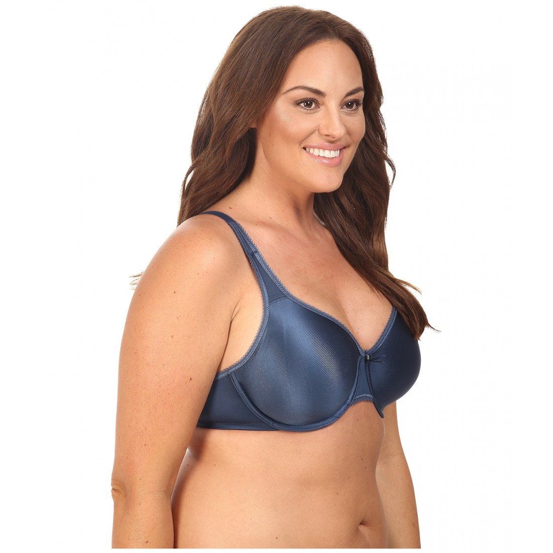 b68222ed6b3f5 Wacoal Basic Beauty Full Figure Underwire Bra 855192 6PM7900208 Dark Denim