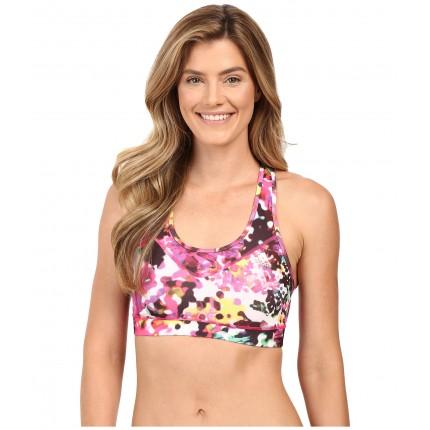 adidas TECHFIT Bra - Floral Explosion Print 6PM8684970 Shock Pink Multicolor Print/Matte Silver