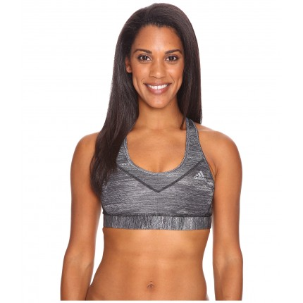 adidas Printed Heather Techfit Molded Cup Bra 6PM8854916 Black Print/Matte Silver