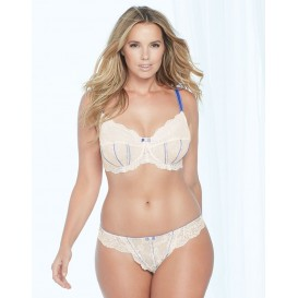 Adore Me Delina Unlined Plus Bra & Panty