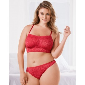 Adore Me Nolie Unlined Plus Bra & Panty