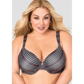 Ashley Stewart Striped T-Shirt Bra - C-Cup