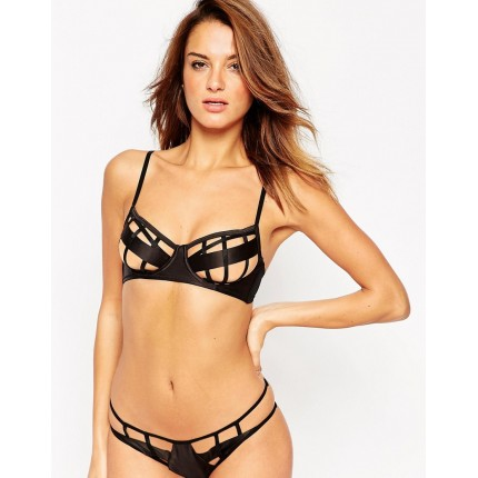 ASOS Krystal Satin Strappy Underwire Bra AS766967