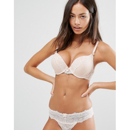 New Look Delicate Two Tone Boost Bra AS895083