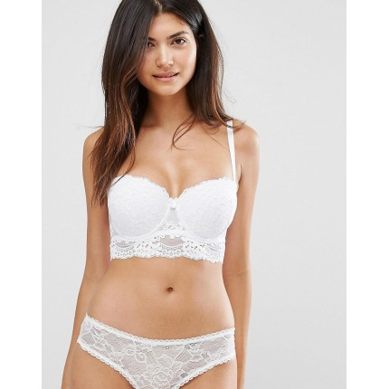 New Look Fuller Bust Daisy Lace Longline Bra AS902999