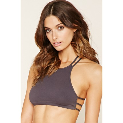 Forever 21 Seamless High-Neck Bralette F2000150489 charcoal