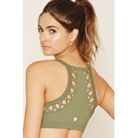 Forever 21 High Impact - Cutout Sports Bra