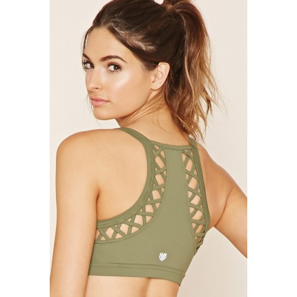 Forever 21 High Impact - Cutout Sports Bra F2000202124 cypress
