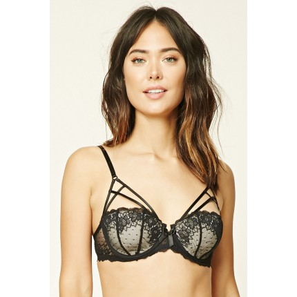 Forever 21 Caged Lace Bra F2000205813 black/nude