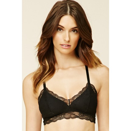 Forever 21 Webbed-Back Lace Bralette F2000205888 black