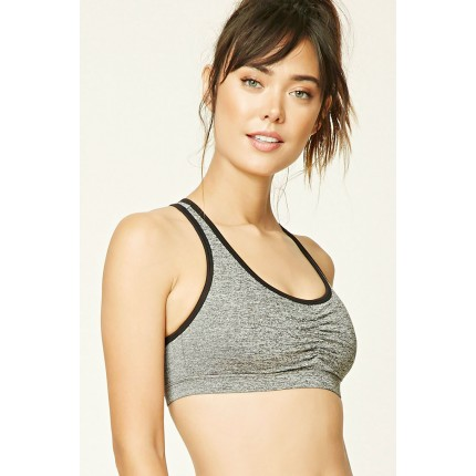 Forever 21 Medium Impact - Sports Bra F2000218558 charcoal/black