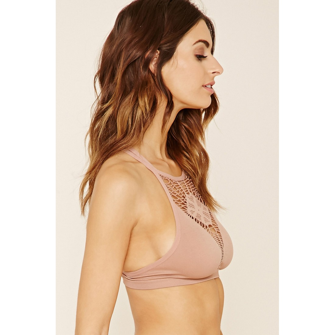 0c5d15fa4a Forever 21 Seamless Cutout Bralette F2000221125 dusty pink