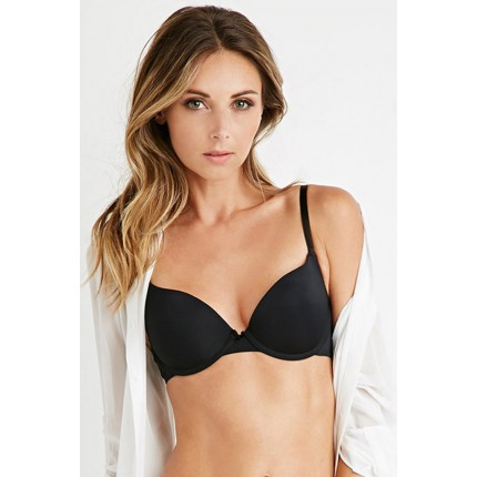 Forever 21 Light Push-Up T-Shirt Bra F2000235518 black