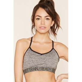Forever 21 Low Impact - Marled Sports Bra