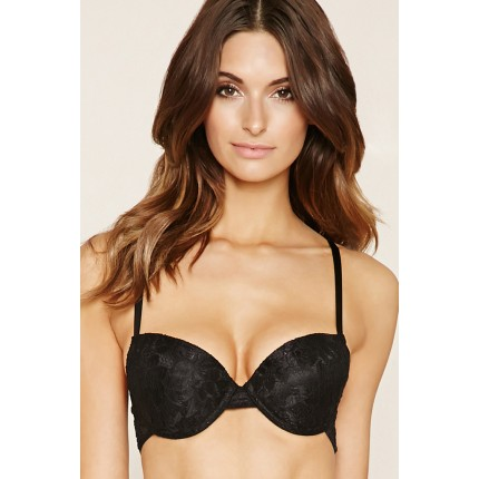 Forever 21 Caged Lace Bra F2000237964 black