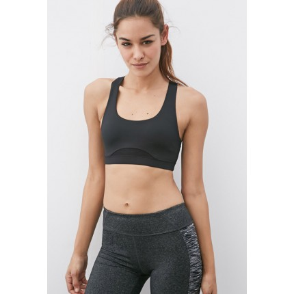 Forever 21 Medium Impact - Crossback Sports Bra F2049257251 black