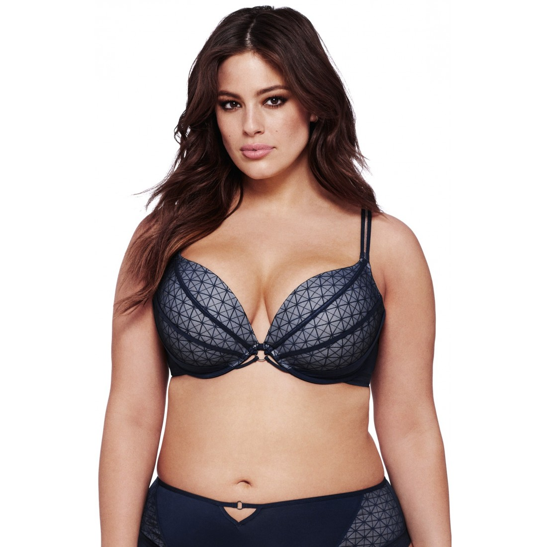 Ashley Graham Underwire Push-Up Plunge Bra (Plus Size) | Bra4Her ...