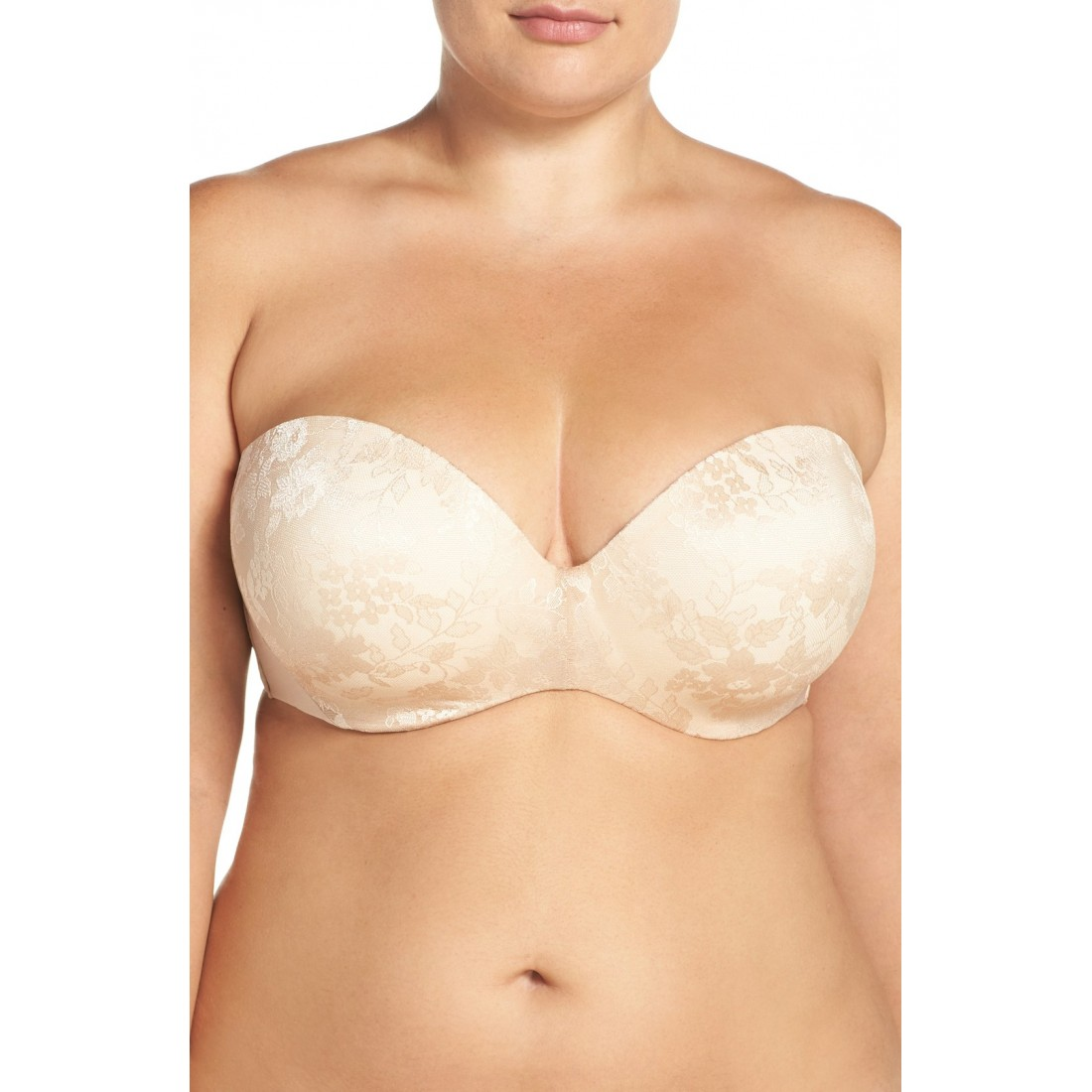 14b0caa6b7eb1 Curvy Couture Strapless Underwire Push-Up Bra (Plus Size) NS5257490