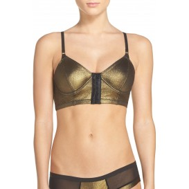 Honeydew Intimates Candy Faux Leather Bralette