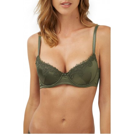 Topshop Lace Trim Padded Underwire Plunge Bra NS5171569