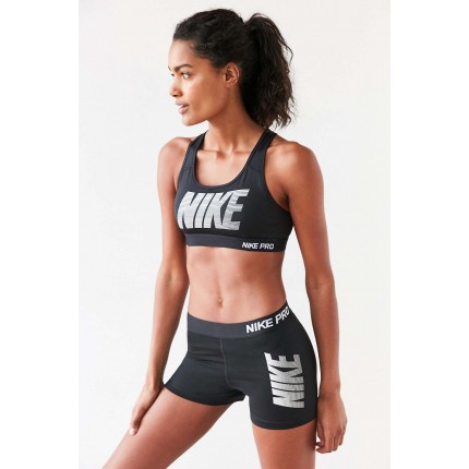 Nike Pro Classic Padded Graphic Sports Bra UO37964988 BLACK