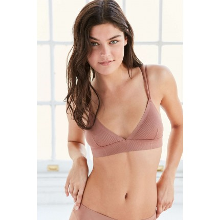 Out From Under Adelina Fusion Triangle Bra UO36381184 BROWN