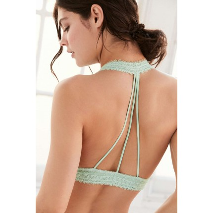 Out From Under Strappy Back Halter Bra UO36837490a LIME