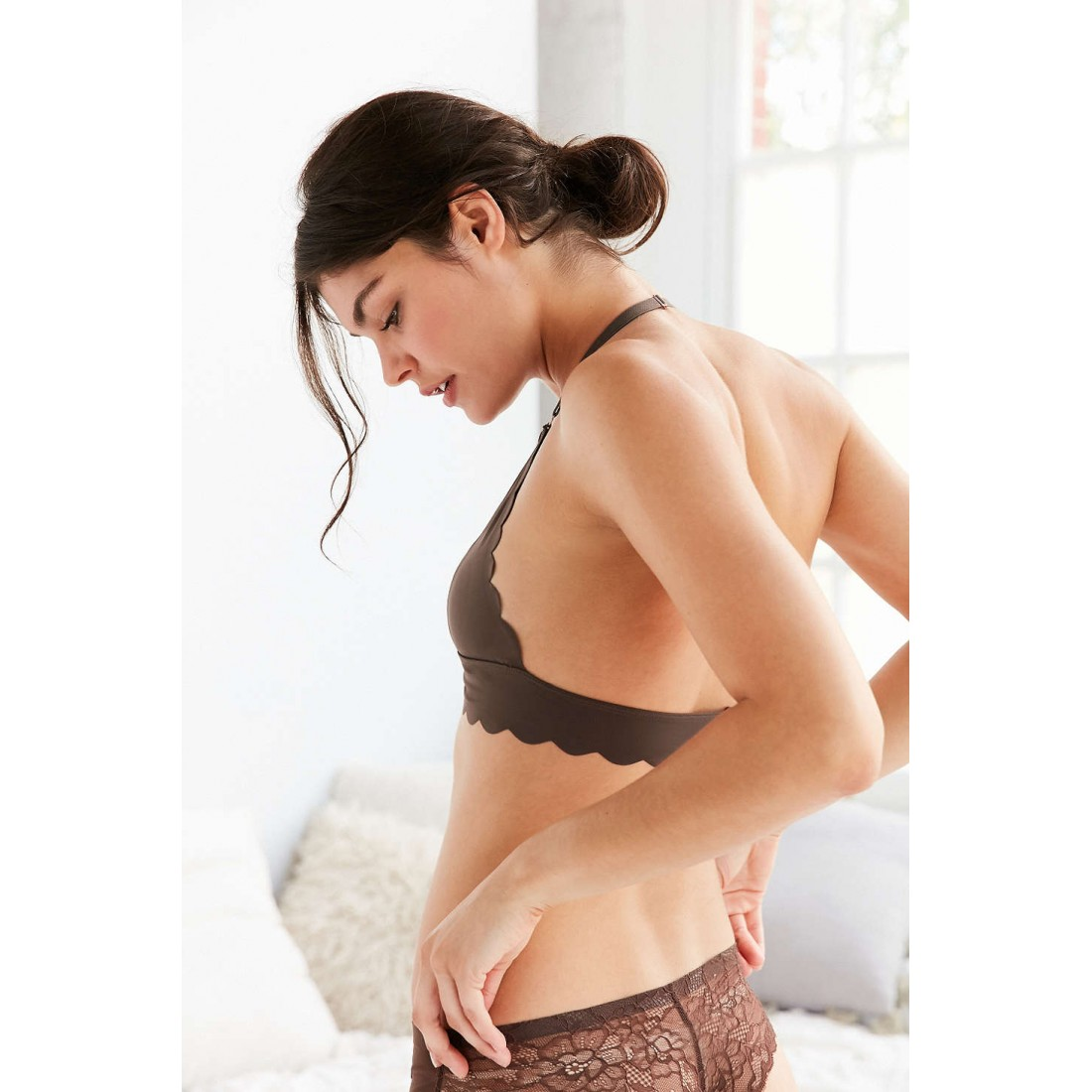 Out From Under Sierra Scallop Fusion Bra UO37443561 BROWN 157617f24