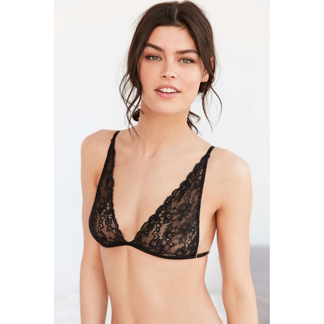 26364325e8a Out From Under Angelica Lace Triangle Bra UO38078309 BLACK